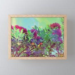 New Zealand Pohutukawa tree Framed Mini Art Print