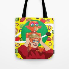 Mysterious Alien Creature. Tote Bag