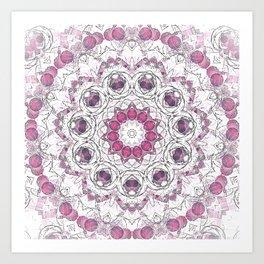 Boho Chic Pink Pastel Mandala Art Print