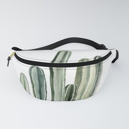 Tall Cacti Watercolor Painting Fanny Pack