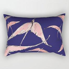 flock of flamingo pattern Rectangular Pillow