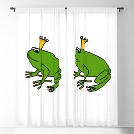 Cute Green Frog Prince Blackout Curtain