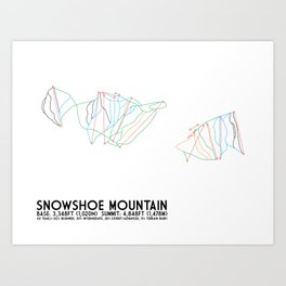 Snowshoe Mountain, WV Art Print