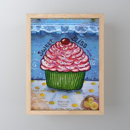 Cupcake, Cupcake Art, Mixed Media, by Faye Framed Mini Art Print