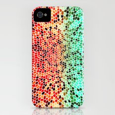 THINK MINTY ORANGE Slim Case iPhone (4, 4s)