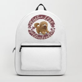 Peace, Love, Goldendoodles Backpack