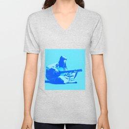 Blue Songbird Joni Mitchell Unisex V-Neck