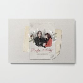 OUAT HAPPY HOLIDAYS // Rumbelle Metal Print