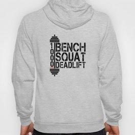 1000 Pounds Bench Squat Deadlift Powerlift Club Fitness Bodybuilder Bodybuilding Hoody
