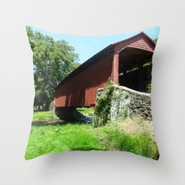 A Bridge in the Country Throw Pillow