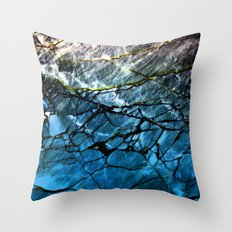 Blue Labradorite Crystal Throw Pillow