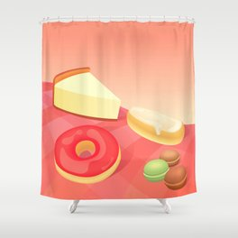 French Vanilla Shower Curtain