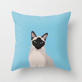 The Regal Siamese Cat Throw Pillow