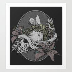 Skull Bee  Art Print