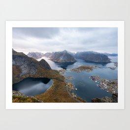 Reinebringen view, Lofoten Art Print