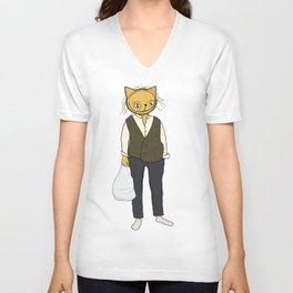 JEFFERY THE CAT Unisex V-Neck