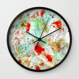 A Splash of Koi Wall Clock