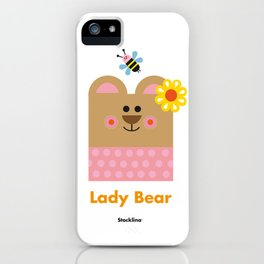 Lady Bear iPhone Case