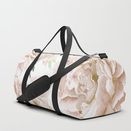 Pretty Blush Pink Roses Flower Garden Duffle Bag