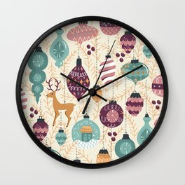A Golden Christmas Wall Clock