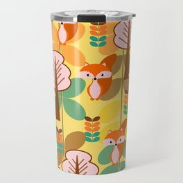 Foxes in the forest Travel Mug