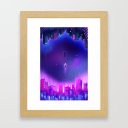 Into The Spider-Verse Framed Art Print