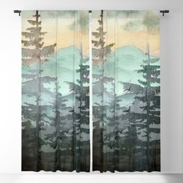 Pine Trees Blackout Curtain
