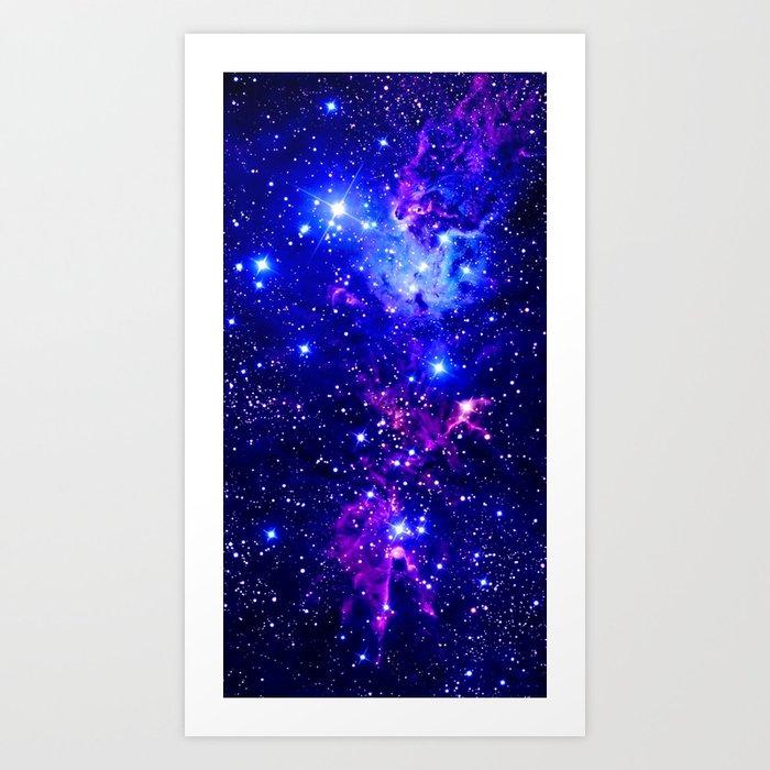Fox Fur Nebula Galaxy blue purple Kunstdrucke