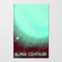 Alpha Centauri Space Art poster Canvas Print