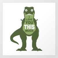 eat Art Prints featuring Amourosaurus by David Olenick