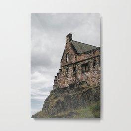 glimpse of edinburgh castle Metal Print