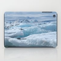 iceland iPad Cases featuring Jökulsarlon Iceland by seraphina
