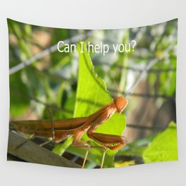 Can I help you? Wall Tapestry