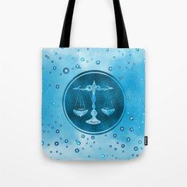 Libra Zodiac Sign Air Element Tote Bag