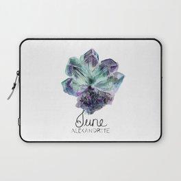 June Birthstone | Alexandrite Watercolor Laptop Sleeve