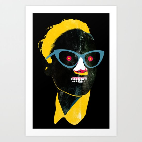 Smile in black Art Print