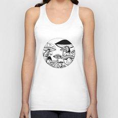 Mushroom Art Hand drawn design Unisex Tank Top