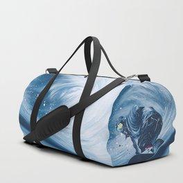 'Snowboarding Blue Blower' Duffle Bag