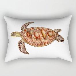 Green turtle Chelonia mydas Rectangular Pillow