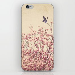 Butterfly and Pink Blossoms iPhone Skin