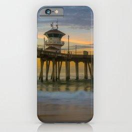 Long Exposure Sunrise at Huntington Pier iPhone Case