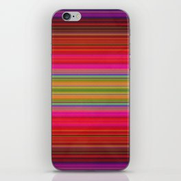 Colorful pink red green geometrical stripes iPhone Skin