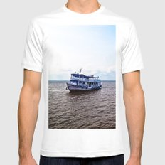 Amazon river boat MEDIUM Mens Fitted Tee White