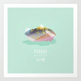 Kohada Sushi Art Print