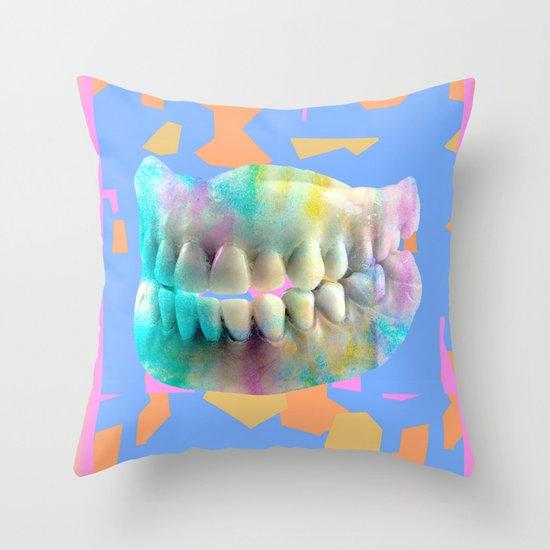 Dino tracks Throw Pillow