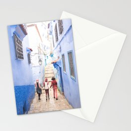 Sunny days Ahead - Chefchaouen, Morocco - The Blue City Stationery Cards