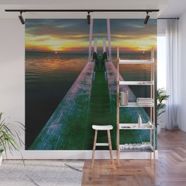 Neon wood at gulf of mexico Wall Mural