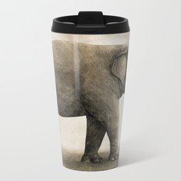 One Amazing Elephant - sepia option Metal Travel Mug