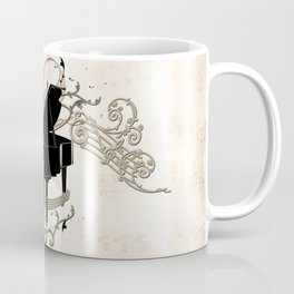 Music, piano with key notes and clef Coffee Mug
