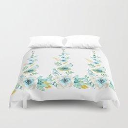 Blue Floral Twist Duvet Cover